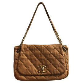 Chanel-Sacs à main-Beige