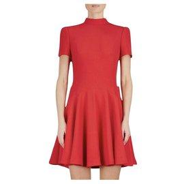Alexander Mcqueen-Alexander McQueen - red crepe dress-Red