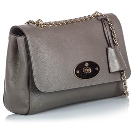 Mulberry-Mulberry Gray Leather Lily-Grey