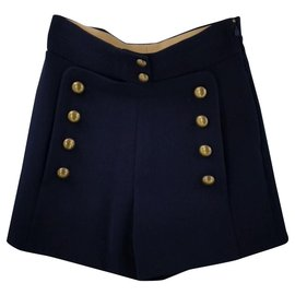 Chloé-short-Bleu Marine