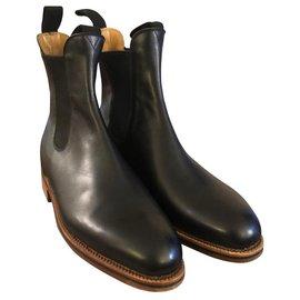 JM Weston-Weston Boots-Black