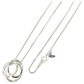 Tasaki-Tasaki Diamond Necklace Pendant-Silvery