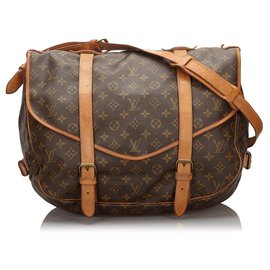 Louis Vuitton-Louis Vuitton Brown Monogram Saumur 43-Brown