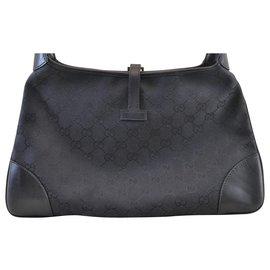 Gucci-Gucci Sherry Line GG Shoulder Bag-Black