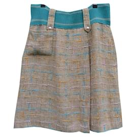 Chanel-Skirts-Beige,Turquoise