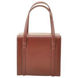 Burberry-Burberry Leather Hand Bag-Brown