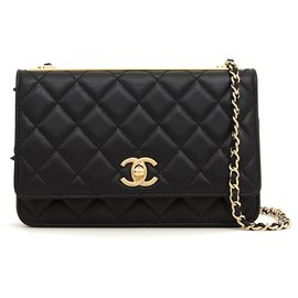 Chanel-wallet on chain 2019 black new-Black