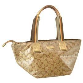 Gucci-Gucci Sherry Line GG Shoulder Bag-Golden