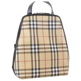 Burberry-Burberry Nova Check Backpack-Cream