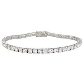 inconnue-Bracelet ligne en or blanc 750/000, 6 carats de diamants.-Autre