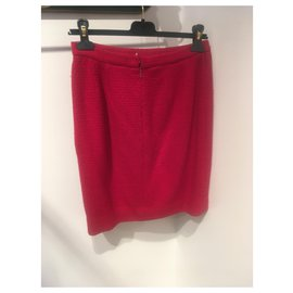 Chanel-Skirts-Red