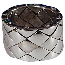 Chanel-Padded ring-Silvery