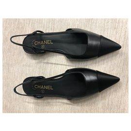 Chanel-Chanel Slingback-Black