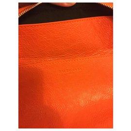 Balenciaga-sac de voyage balenciaga hobo air xl neuf-Orange
