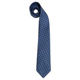 Hermès-Cravates-Bleu