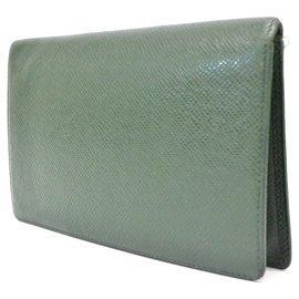 Louis Vuitton-Louis Vuitton Taiga Leather Long-Green