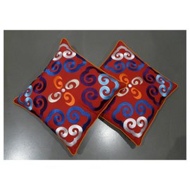 "Shanghai Tang-2 red cushion covers 46 x 46 cm Shanghai Tang ""Yun""-Red"