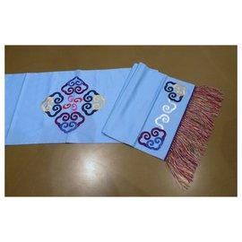 Shanghai Tang-Shanghai tang or cotton and table runner 284 x 51,5 cm-Light blue
