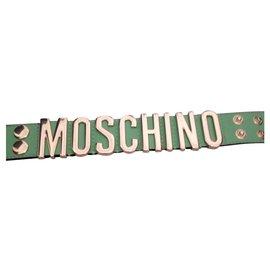 Moschino-Bracelet cuir-Vert
