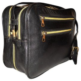 Mila Shön-MILA SCHON vintage reporter bag-Black