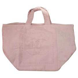 Chanel-Chanel pink cotton tote-Pink