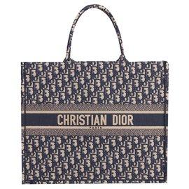 Dior-Dior Buch Tote neu-Blau