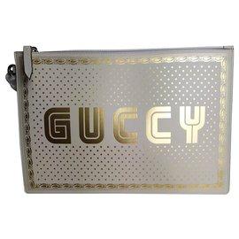 Gucci-Pochette Gucci GUCCY-Blanc cassé