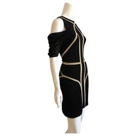 Alexander Mcqueen-Dresses-Black,Beige
