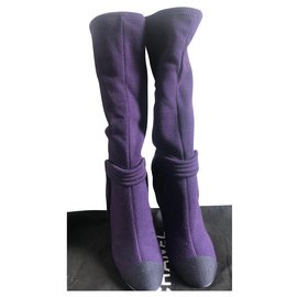 Chanel-Boots-Purple