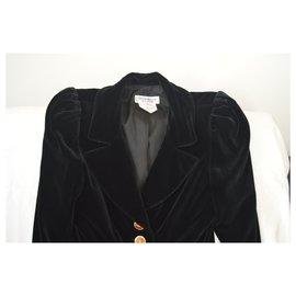 Yves Saint Laurent-Veste en velours-Noir