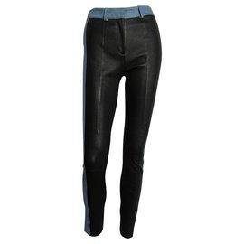Acne-Pants, leggings-Black,Light blue