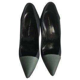 Proenza Schouler-Heels-Black,Silvery,Green