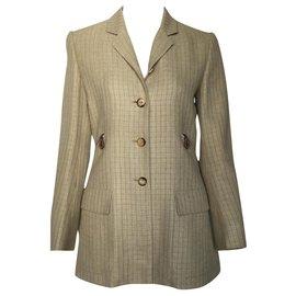 Hermès-Jackets-Beige,Light brown