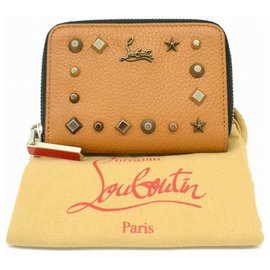 Christian Louboutin-Christian Louboutin Studs Leather Purse-Marron
