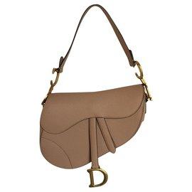 Dior-Dior color saddle bag by Dior-Flesh