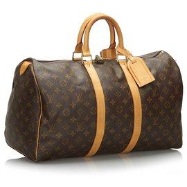 Louis Vuitton-Louis Vuitton Keepall Monogram Brown 45-Marron