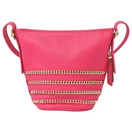 Coach-Coach Chain Leather Crossbody-Pink