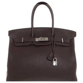 Hermès-Birkin 35-Brown