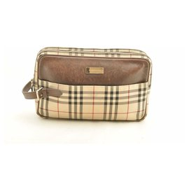 Burberry-Burberry Nova Check Clutch Bag-Beige
