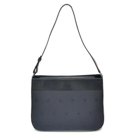 Burberry-Burberry Nylon Leather One-Black