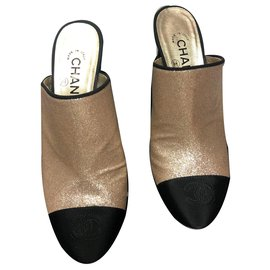 Chanel-Mules chanel-Golden