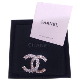 Chanel-Chanel Strass / Glitzer Brosche 2019-Silber