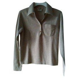Hermès-HERMES Cashmere Polo-Beige