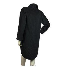 Max Mara-Manteau iconique en laine et cachemire-Gris anthracite