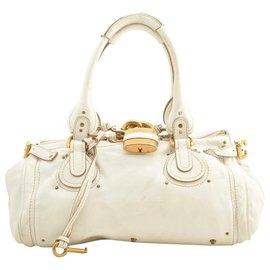Chloé-Chloé Leather Hand Bag-White