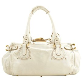 Chloé-Chloé Leather Hand Bag-White