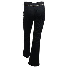 Burberry-Dark navy cotton pants-Navy blue