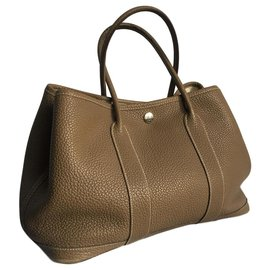 Hermès-Hermès Garden Party bag 30-Chestnut