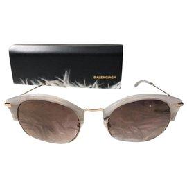 Balenciaga-Des lunettes de soleil-Blanc