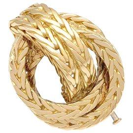 "Hermès-Hermès ""Marine knot"" brooch in yellow gold.-Other"
